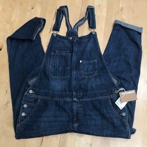 H&M denim overalls NWT size 12